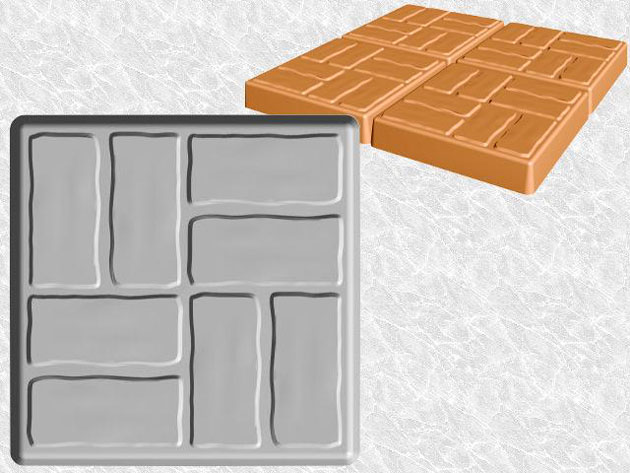 Stepping Stone Molds 003 - Square - Big Bricks