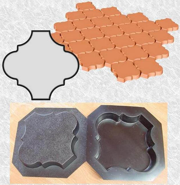 Stepping Stone Molds 019 - Mediterranean - Plain